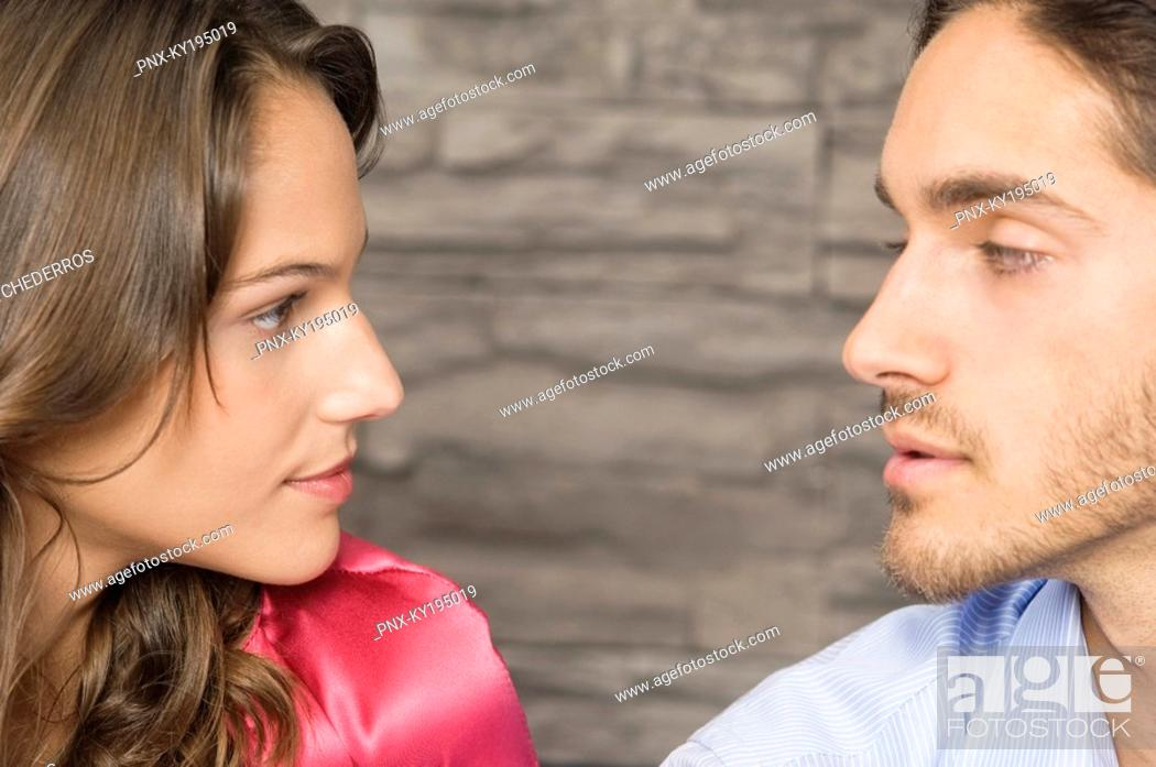 Stock Photo: Affectionate couple looking at each other.