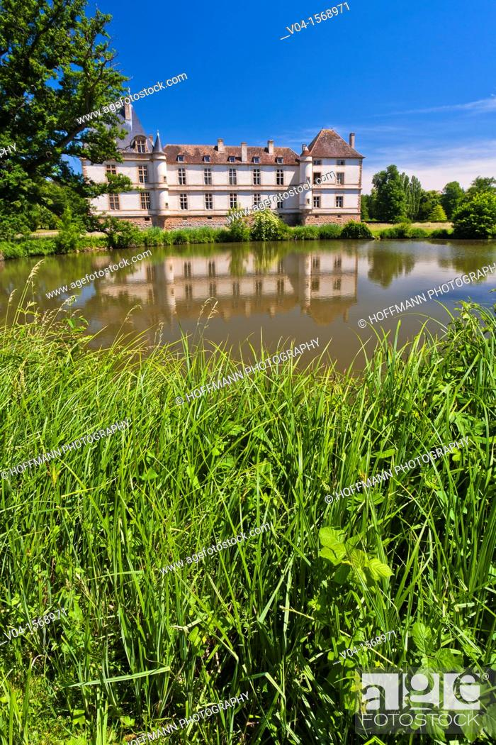 Stock Photo: The picturesque castle of Cormatin, Burgundy, France, Europe.