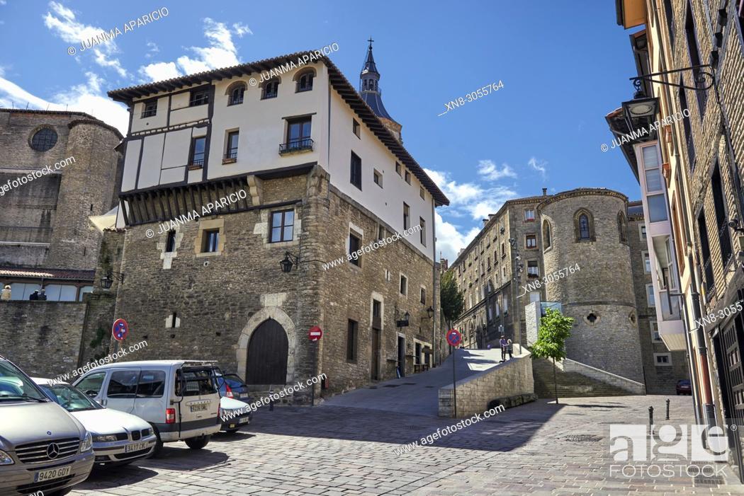 Stock Photo: Torre de los Hurtado de Anda, XV Century, Vitoria, Gasteiz, Álava, Basque Country, Euskadi, Euskal Herria, Spain.