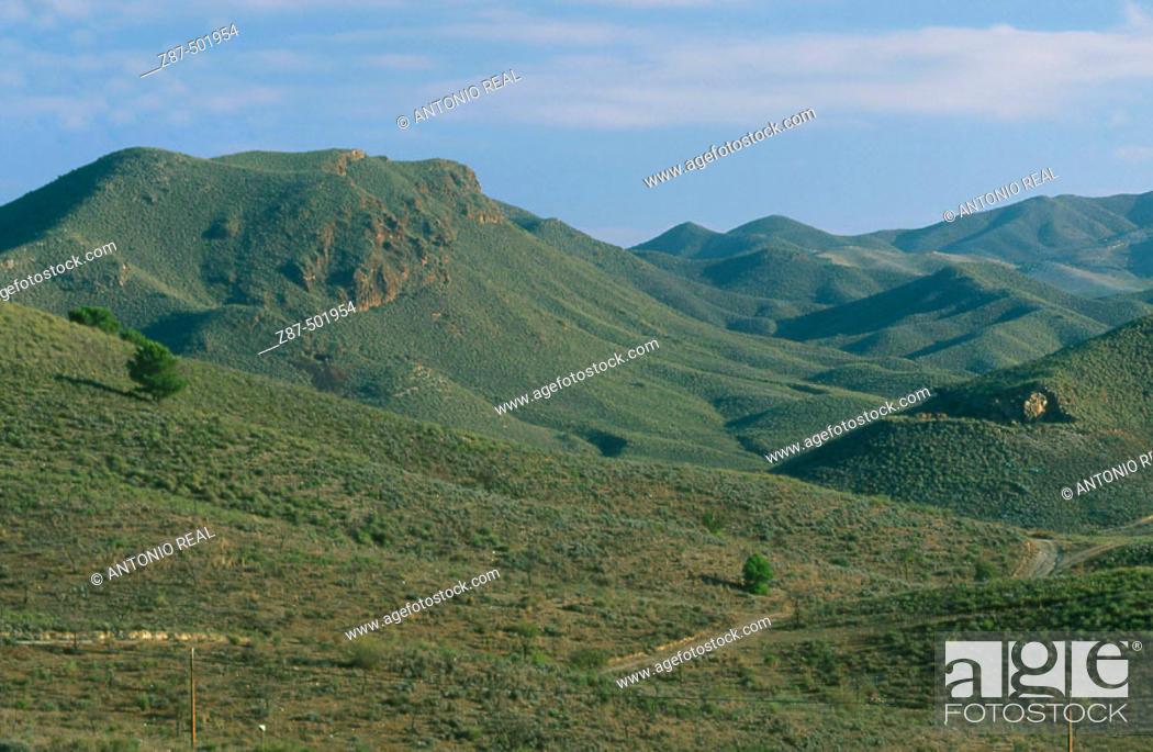 Stock Photo: Sierra de Almenara, Lorca. Murcia, Spain.