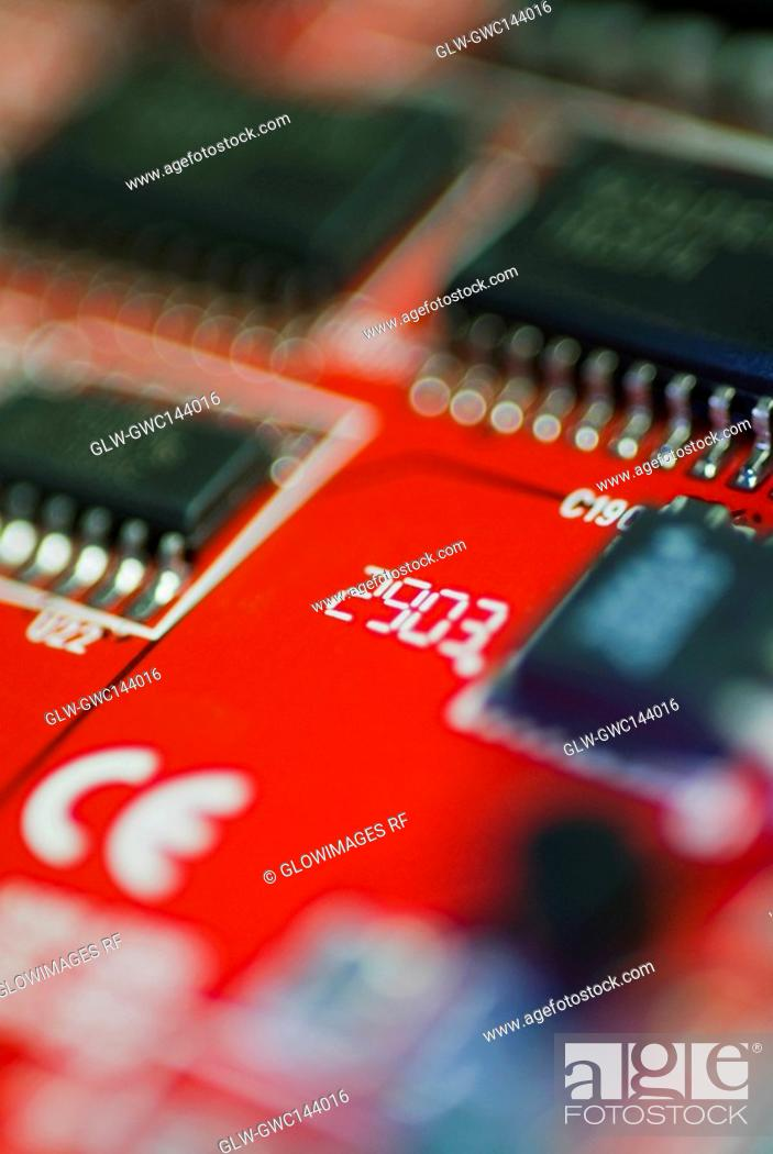 Stock Photo: Close-up of a mother board.