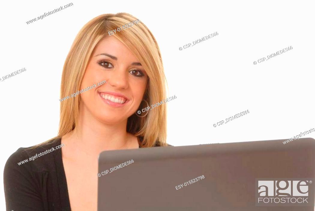 Stock Photo: Helpdesk Girl 214.