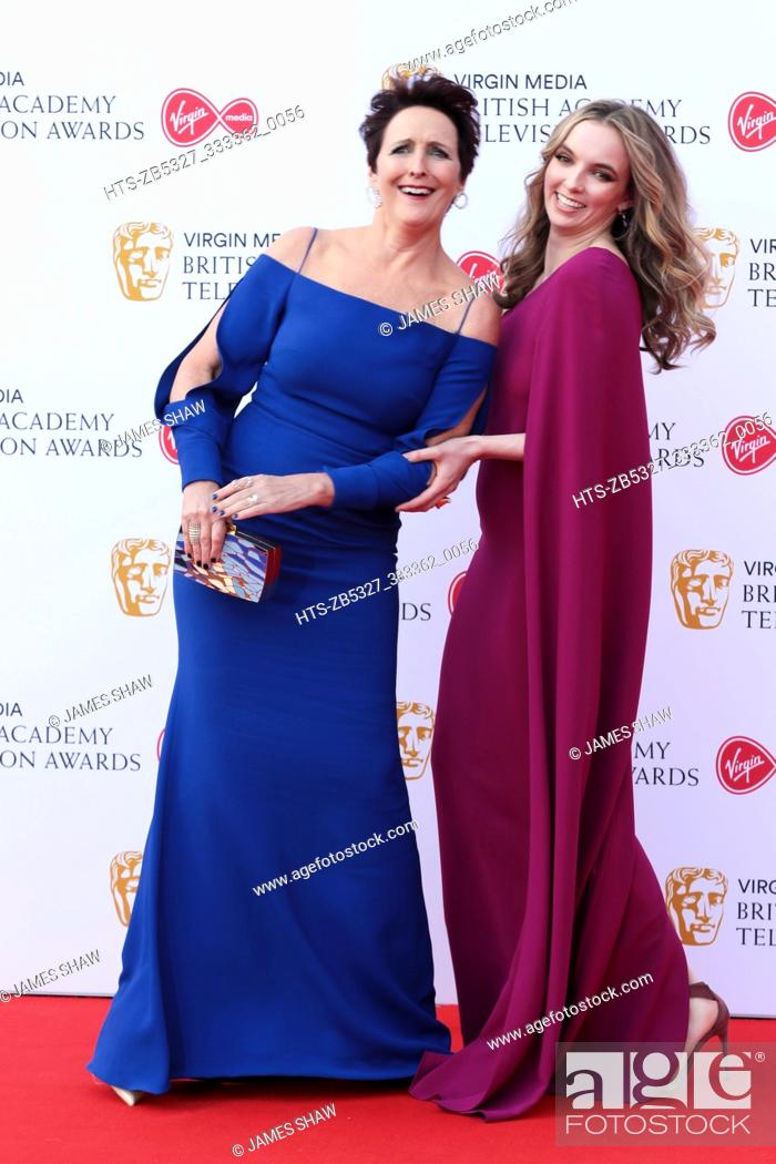 Stock Photo: Fiona Shaw and Jodie Comer at the British Academy Television Awards, Arrivals, Royal Festival Hall, London, UK.