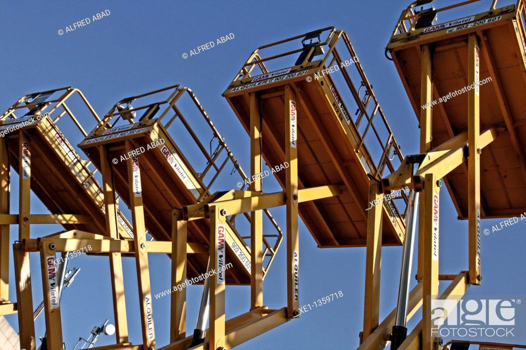 Stock Photo: platforms, industrial machinery.