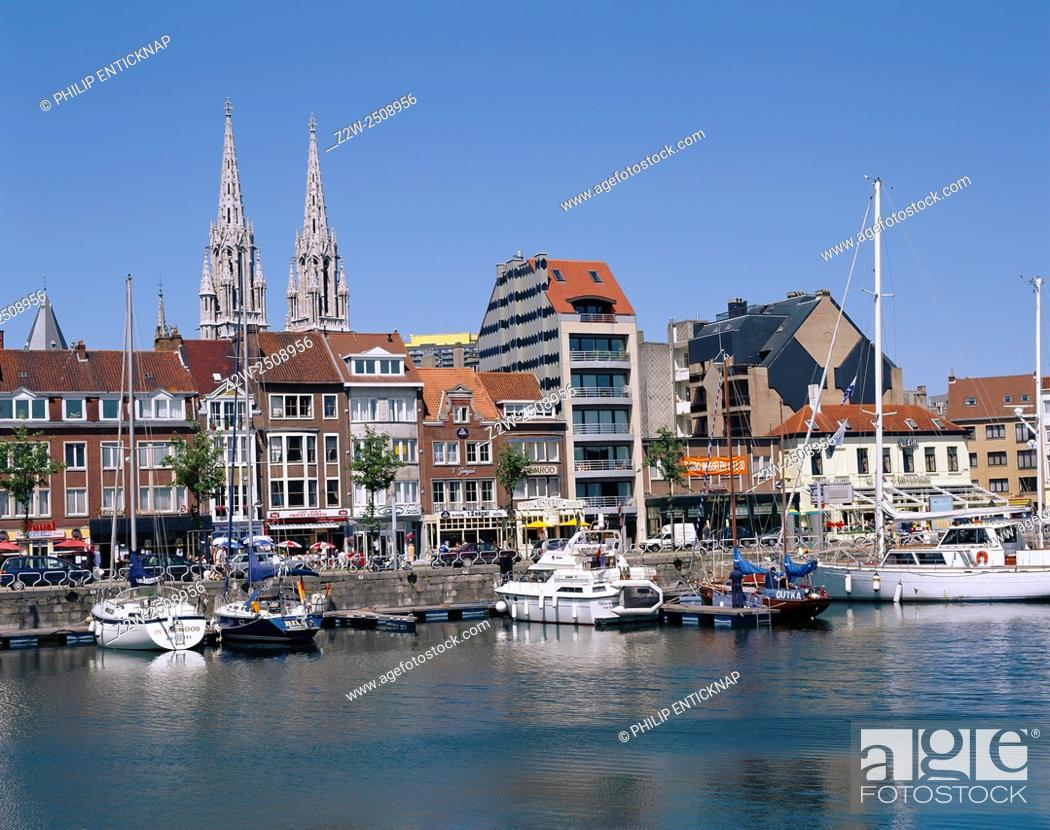 Stock Photo: The Harbour at Ostend Belgium.