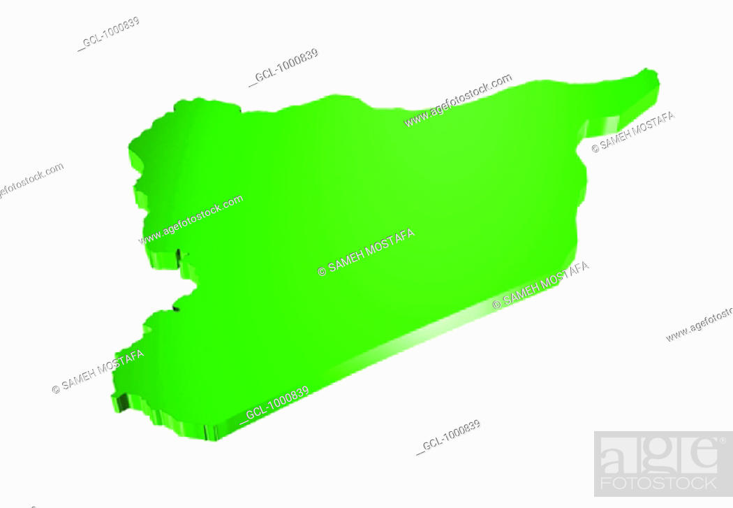 Stock Photo: map of Syria.