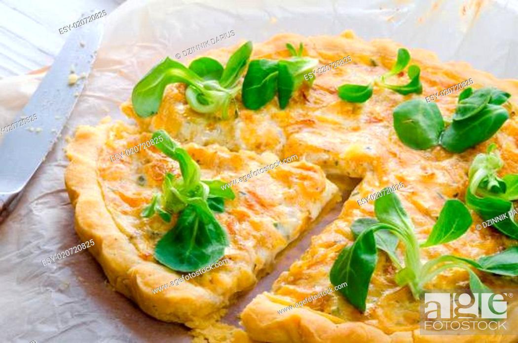 Stock Photo: Onion tart.