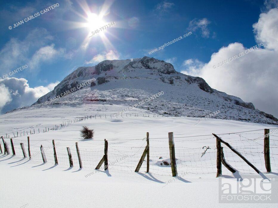 Stock Photo: Monte Mazo Grande. Cantabria. Spain.