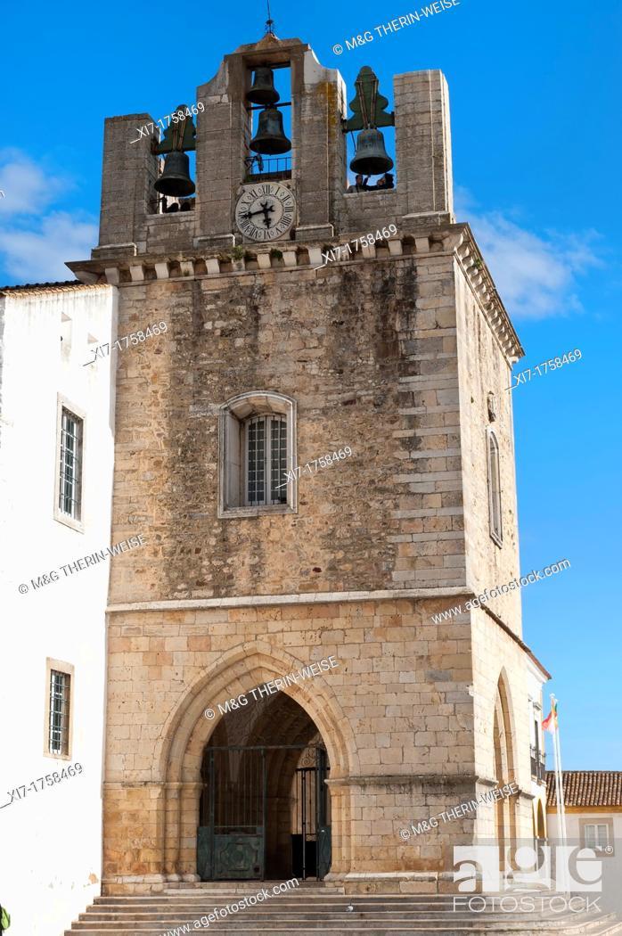 Stock Photo: Faro Cathedral at Largo da Se, Algarve, Portugal.