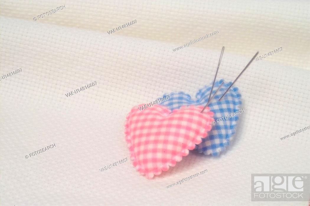 Stock Photo: house item, sewing intrument, needle.