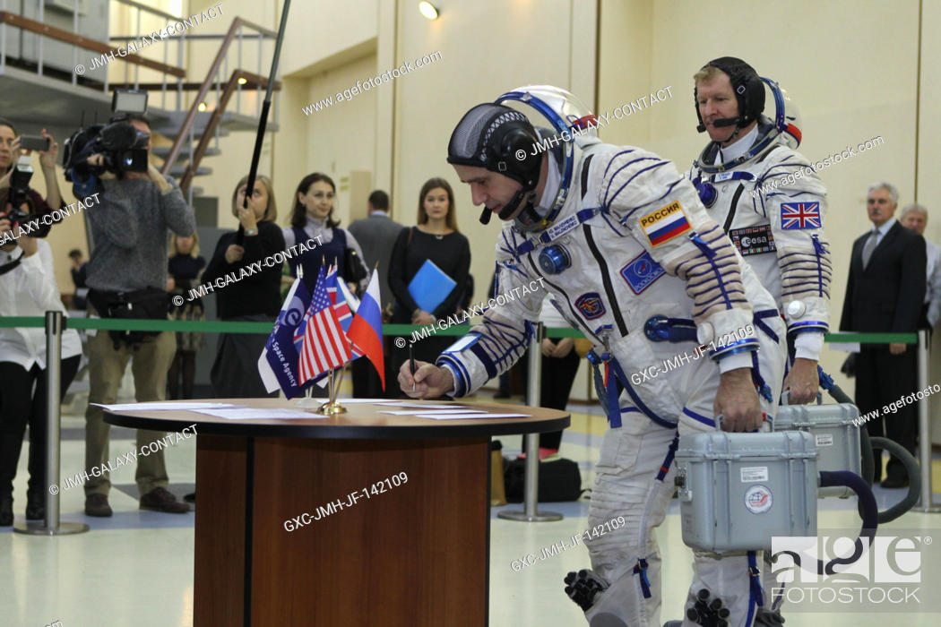 Stock Photo: At the Gagarin Cosmonaut Training Center in Star City, Russia, Expedition 46-47 crewmember Yuri Malenchenko of the Russian Federal Space Agency (Roscosmos).