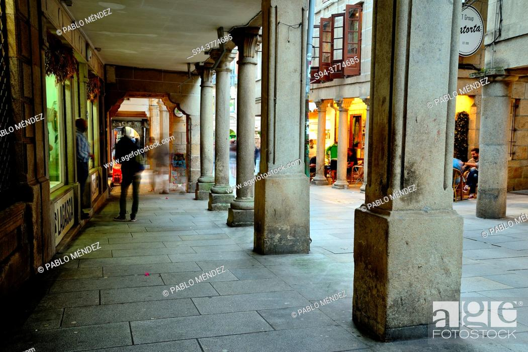 Stock Photo: Old city of Pontevedra, Spain.