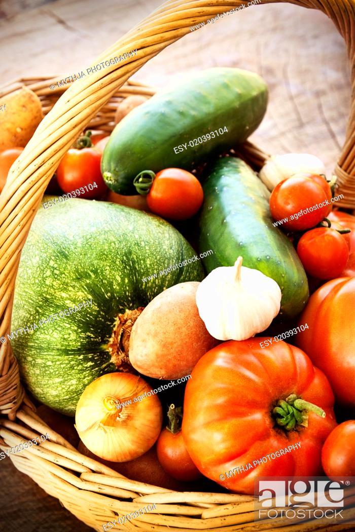 Stock Photo: Fresh vegetables.