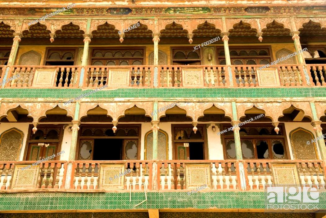 Stock Photo: China, Xinjiang, Yarkand, old traditional dwelling.