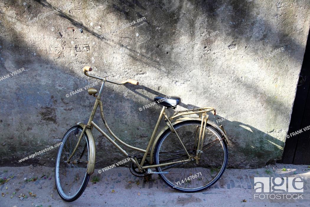 Stock Photo: Golden bike, Netherlands.
