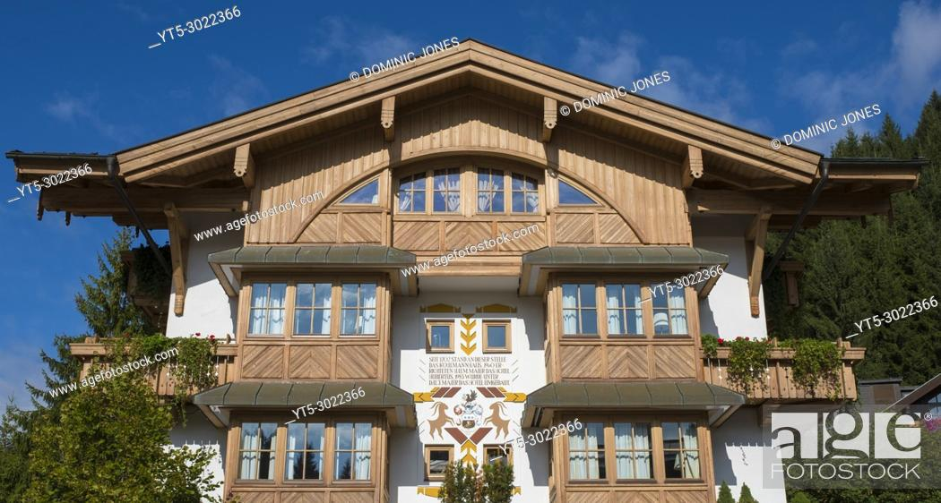 Stock Photo: Hotel in the village centre, Filzmoos, Austria, Europe.