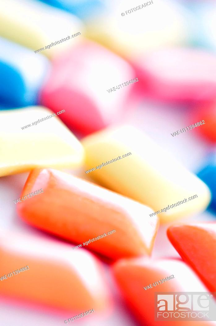 Stock Photo: Colorful Chewing Gums.
