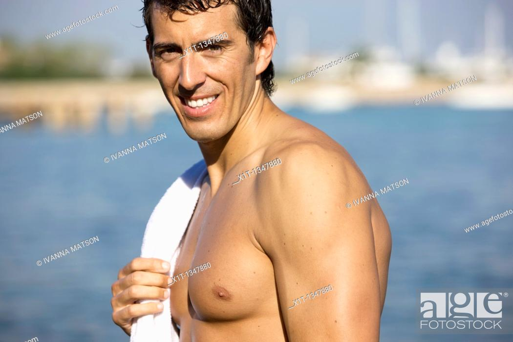 Stock Photo: Man on the beach.