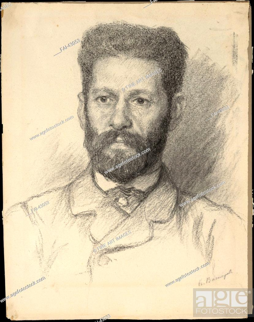 Stock Photo: Portrait of the sculptor Mark Matveyevich Antokolsky (1843-1902) by Vasnetsov, Viktor Mikhaylovich (1848-1926)/Pencil on Paper/Realism/1882/Russia/State Museum.