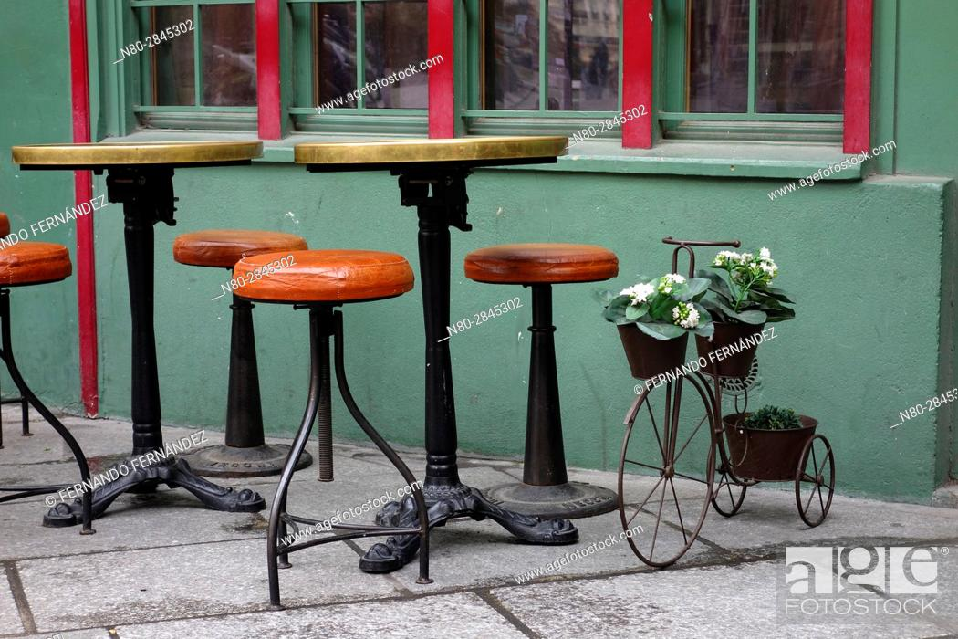 Stock Photo: Rue Galande. Paris. France. Europe.
