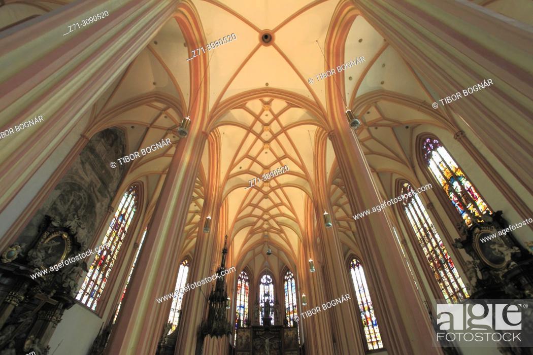 Stock Photo: Czech Republic, Moravia, Olomouc, St Maurice Church, interior, .