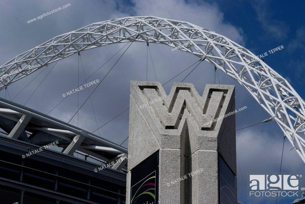 Stock Photo: Entrance to Wembley Stadium, Wembley, London, NW10, England.
