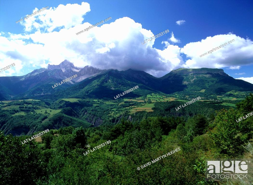 Landscape  Mountain scenery  Hills  Wooded slopes  Low