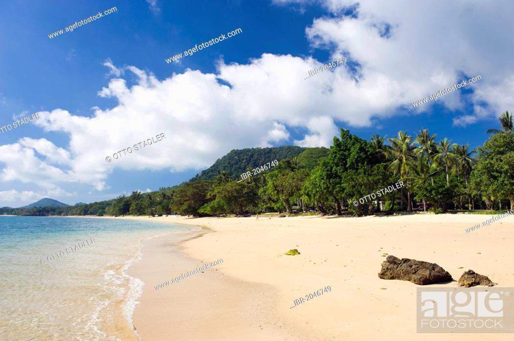 Imagen: Sandy beach, Long Beach, Koh Yao Noi island, Phang Nga, Thailand, Southeast Asia, Asia.