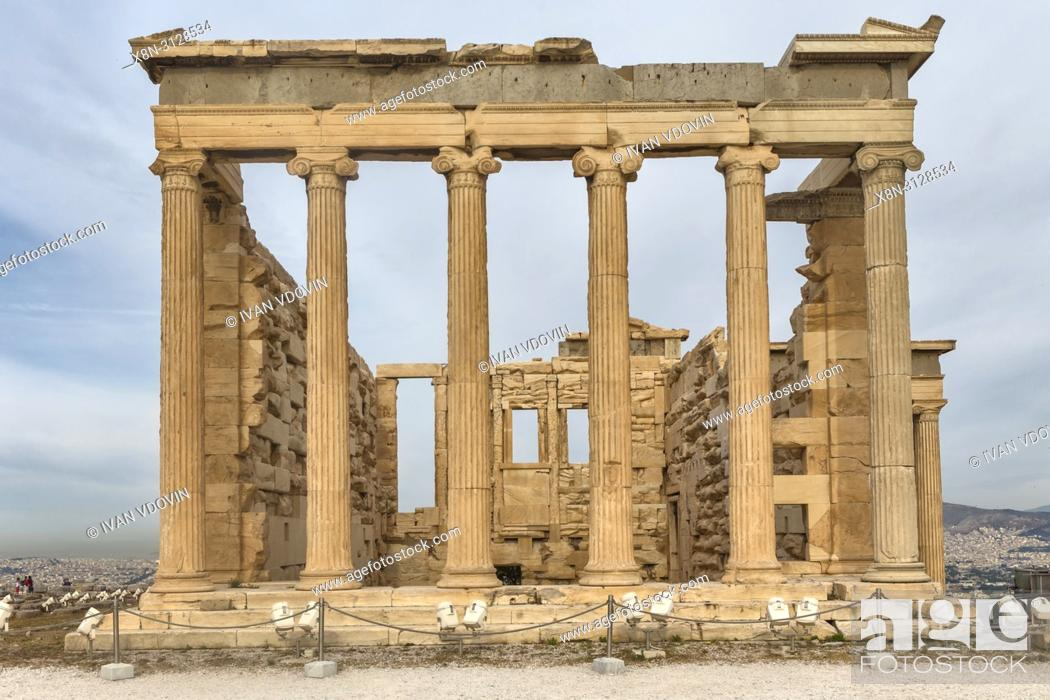 Imagen: Erechtheion temple, Erechtheum (406 BC), Athens, Greece.