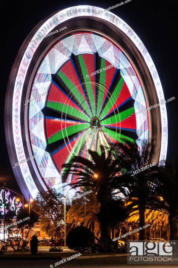 Stock Photo: Ferris wheel at the fair in Valencia, Valencian Community, Spain.