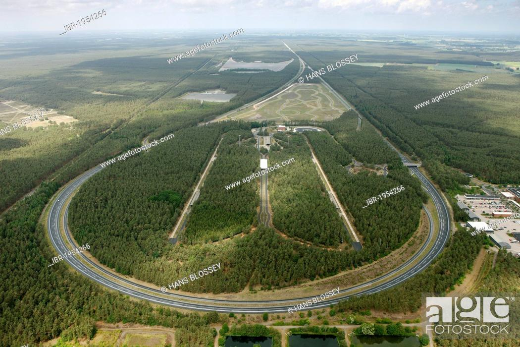 Stock Photo Aerial View Race Course Volkswagen Test Track Ehra Lessien Gifhorn Lower Saxony Germany Europe
