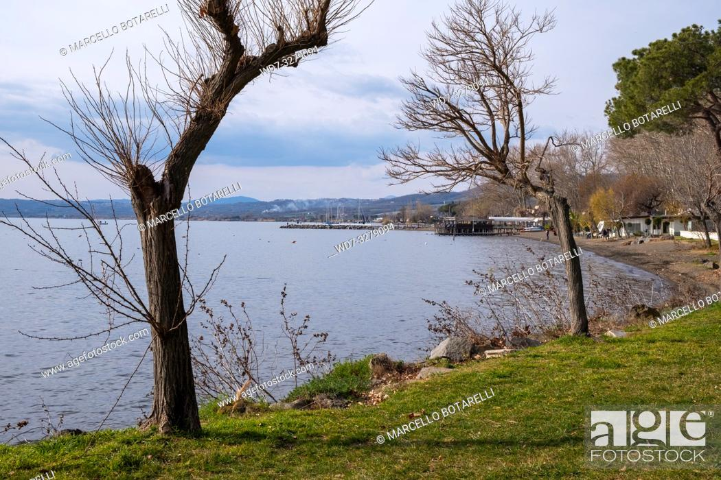 Stock Photo: Landscape of Bolsena lake, Lazio, Italy.