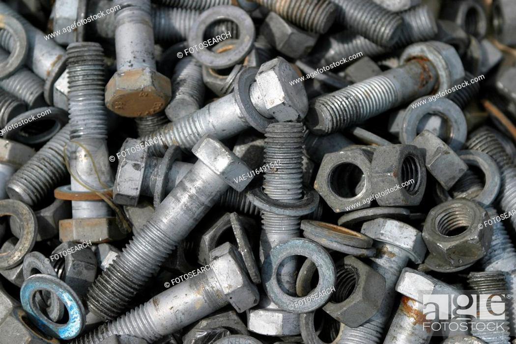 Stock Photo: Nails, Fasteners, Fabricated, Molded, Metallic, Industrial.