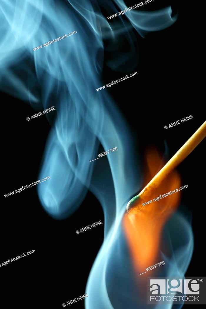 Stock Photo: flame and smoke.