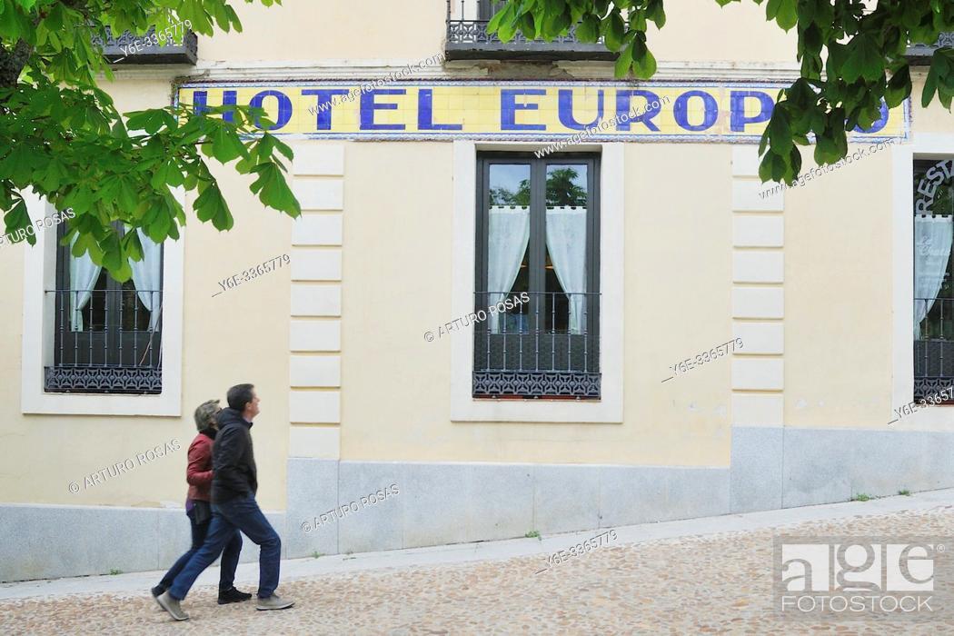 Stock Photo: Hotel Europeo in La Granja de San Ildefonso, Segovia.