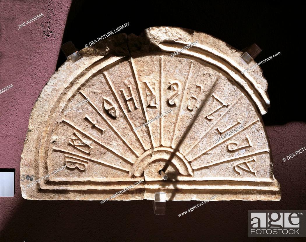 Byzantine Art - 9th-10th century - Marble solar calendar from Izmit