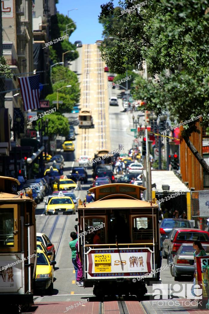 Stock Photo: tram, San Francisco, CALIFORNIA, USA.