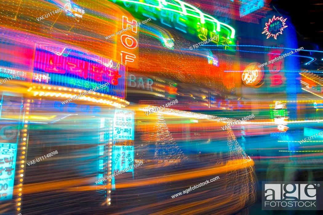 Stock Photo: city scenery, light, landscape, scenery, city, night.