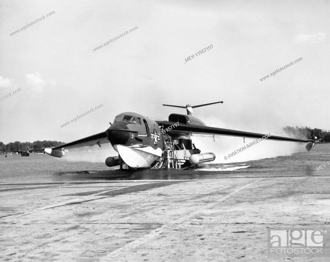 Us Navy Martin P6M Seamaster Jet-Powered Seaplane Bomber Taxiing