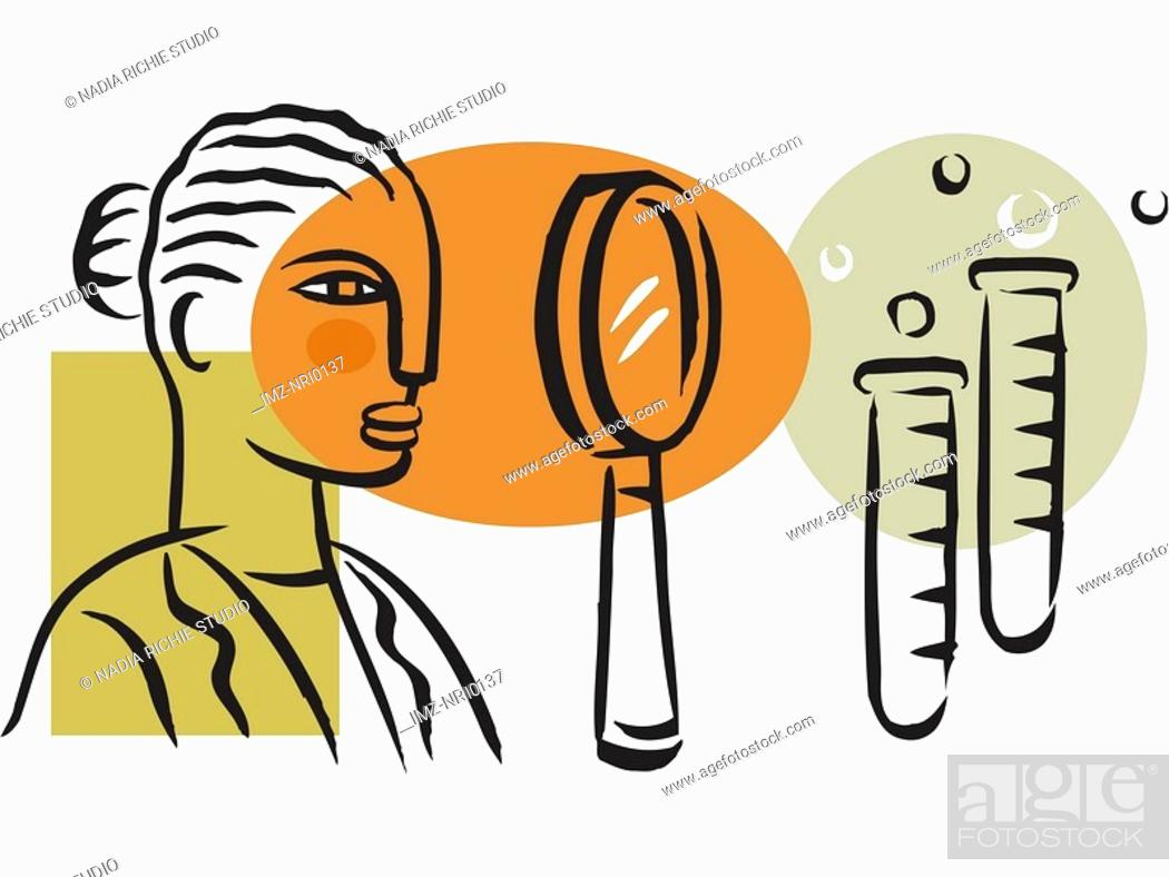 Stock Photo: A picture of a woman at a medical research lab.