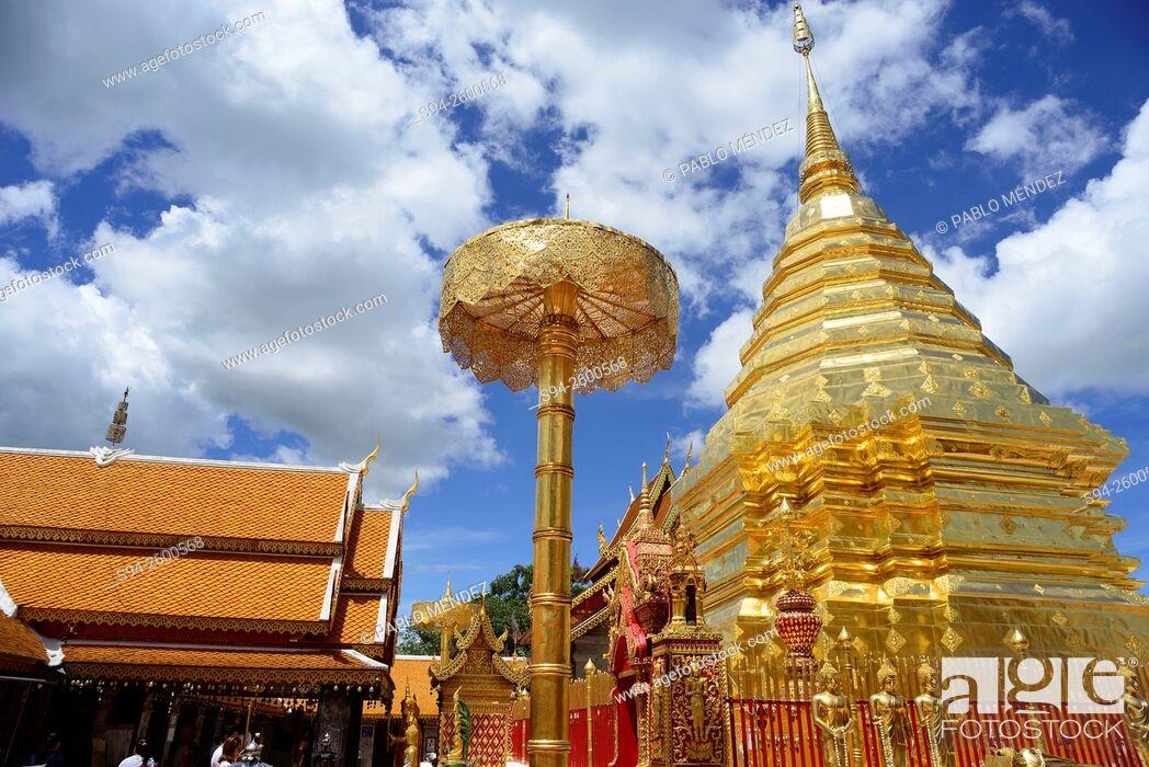 Imagen: Wat Phra That Doi Suthep near Chiang Mai, Thailand.