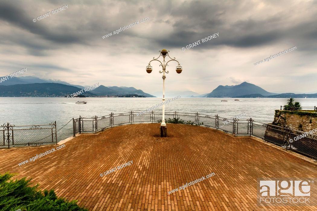 Stock Photo: Beautiful Street Lamp, Stresa, Lake Maggiore, Italy.