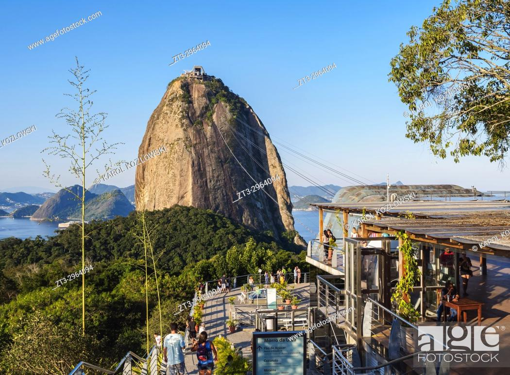 Stock Photo: Sugarloaf Mountain Cable Car Station, Rio de Janeiro, Brazil.