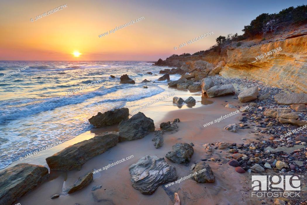 Stock Photo: Seashore near Limnionas, Kos Island, Dodecanese, Greece.