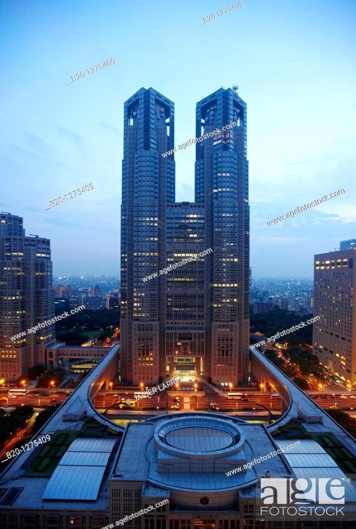 Stock Photo: Tokyo Metropolitan Government building, Shinjuku district, Tokyo, Japan.