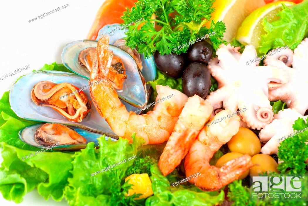 Stock Photo: Seafood salad.