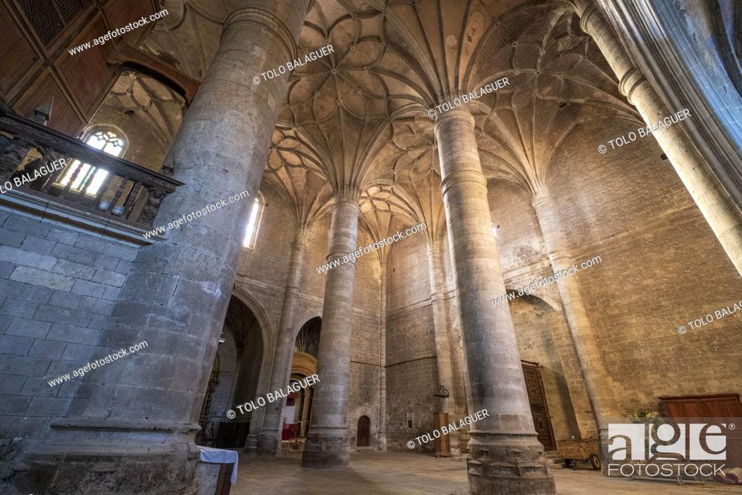 Imagen: colegiata de Santa María del Mercado, Gótico-renacentista, construída entre 1526-1530, por el arquitecto Juan de Rasines, Berlanga de Duero, Soria.