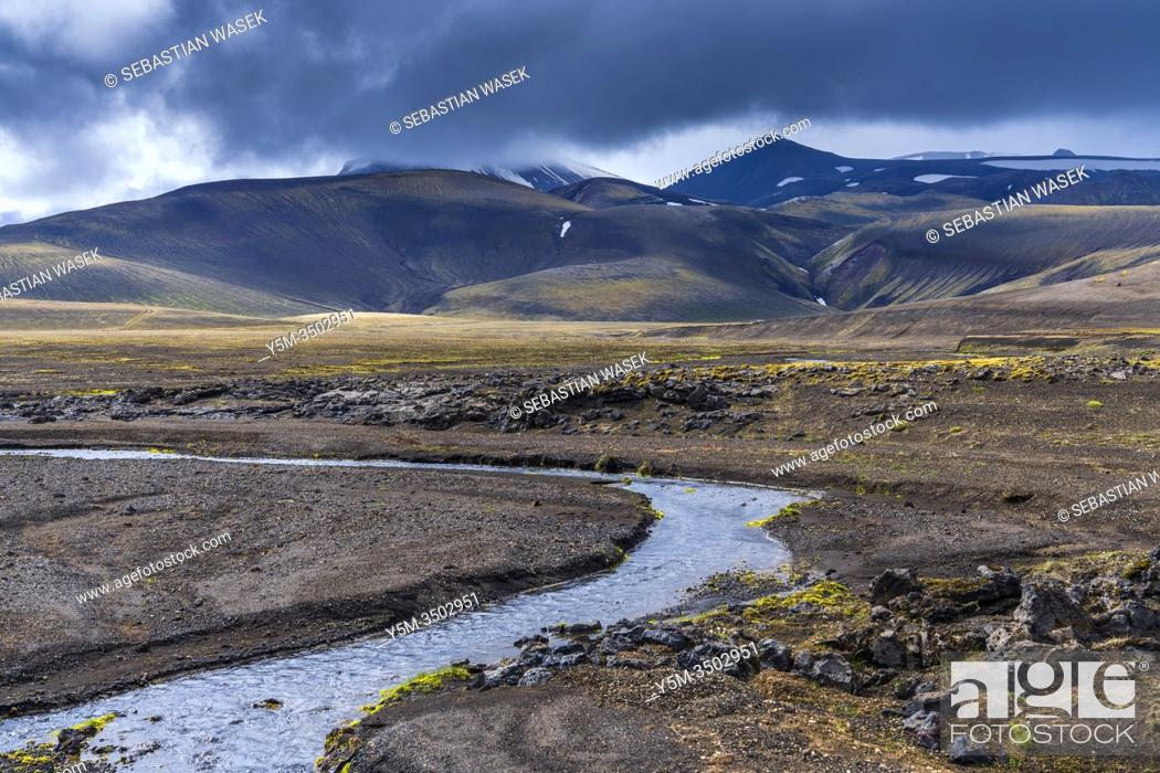 Stock Photo: Highlands of Iceland, Southern Region, Iceland.
