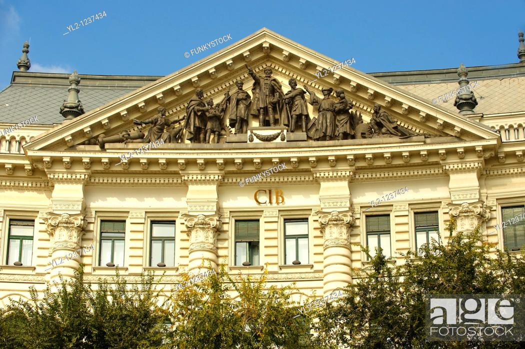 Stock Photo: Head office of the CIB Bank on Freedom Square  Szabadság tér   Budapest, Hungary.