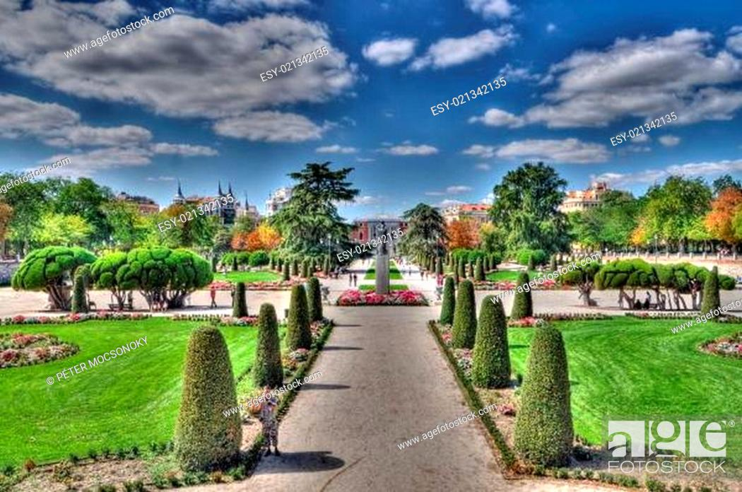 Stock Photo: Retiro park, Madrid, Spain.